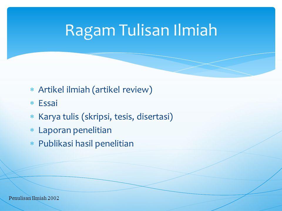  Outline cuma berisikan daftar rencana isi naskah dan urut-urutannya.