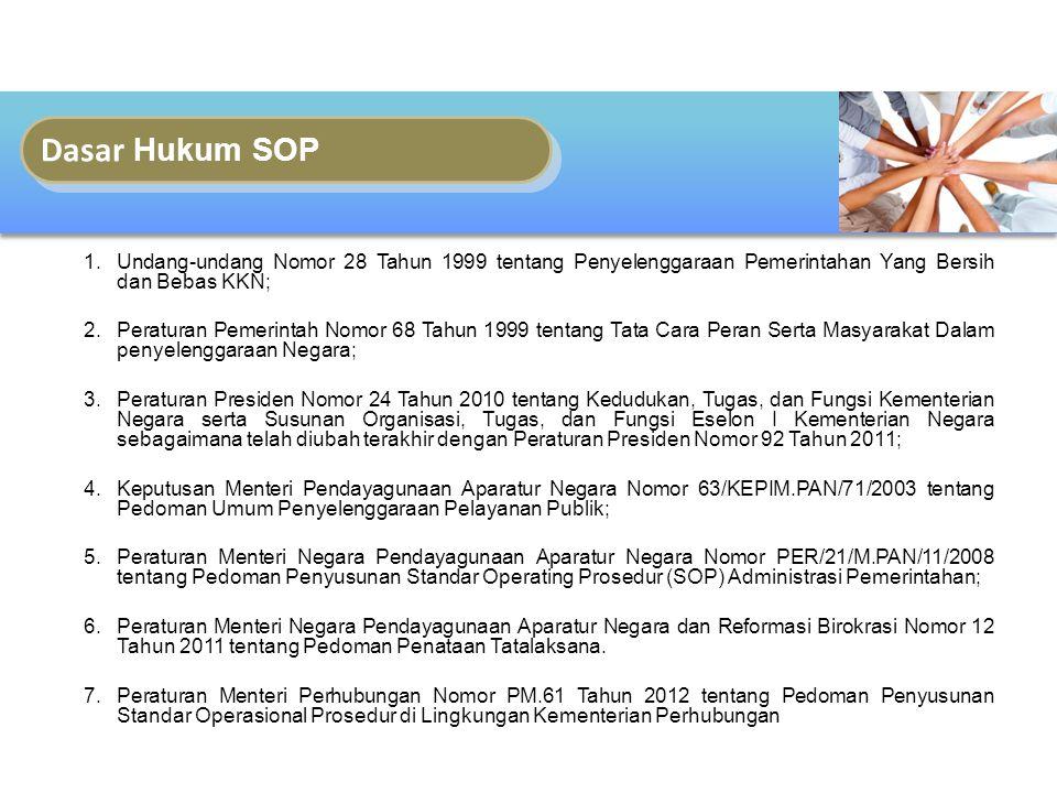 Fokus Reformasi Birokrasi KelembagaanSumber Daya Manusia Ketatalaksanaan Bussiness Process Standard Operating Procedures (SOP)
