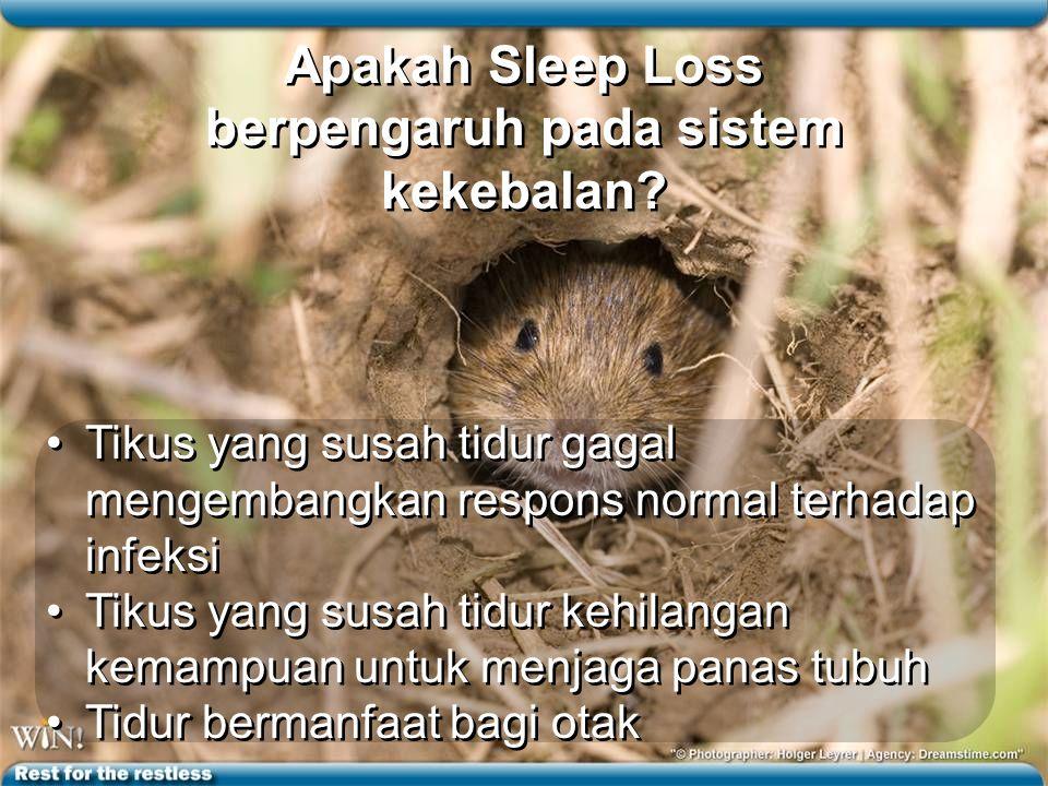 Apakah Sleep Loss berpengaruh pada sistem kekebalan.