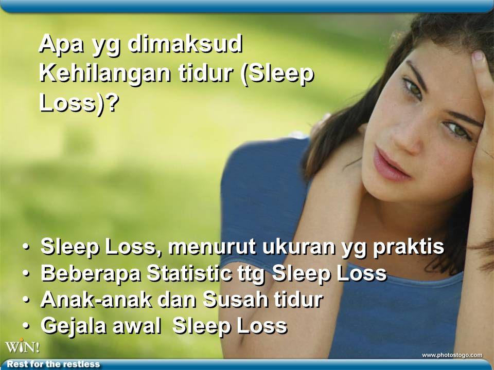 Apa yg dimaksud Kehilangan tidur (Sleep Loss).Apa yg dimaksud Kehilangan tidur (Sleep Loss).