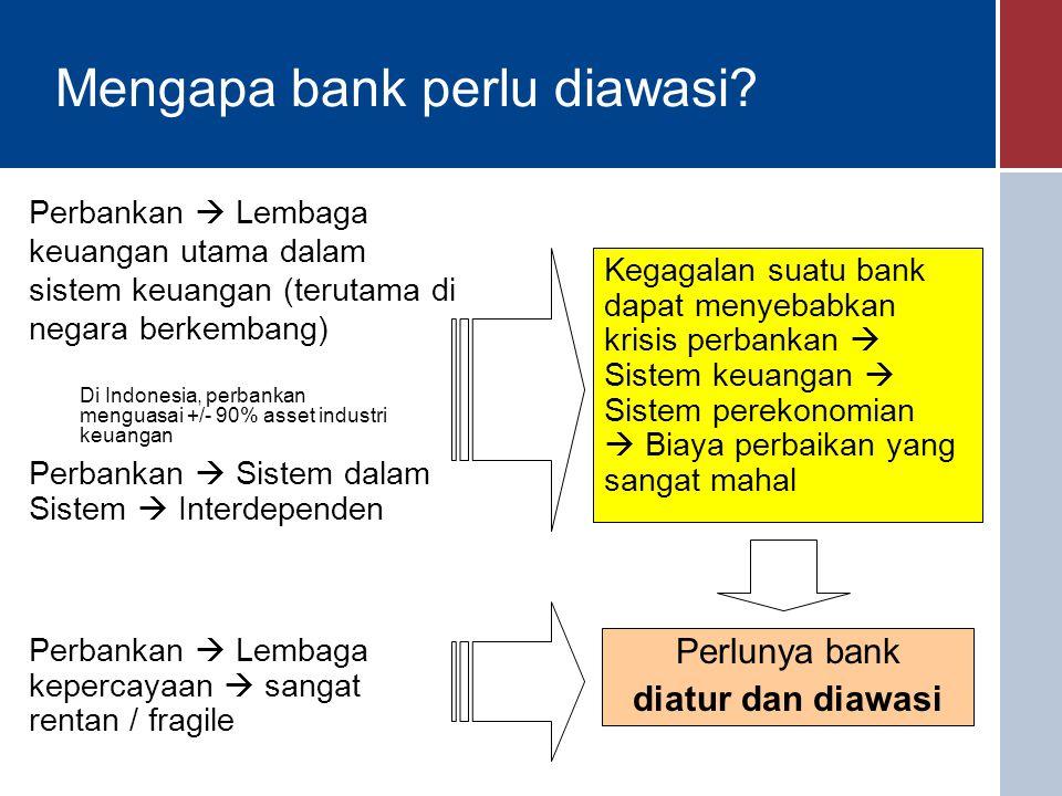 Mengapa bank perlu diawasi.