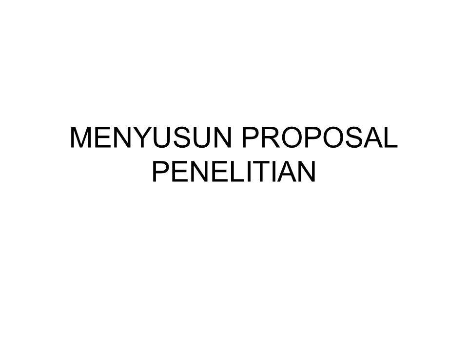 Rancangan atau proposal penelitian merupakan pedoman yang berisi langkah-langkah yang akan di ikuti oleh peneliti untuk melakukan penelitiannya.
