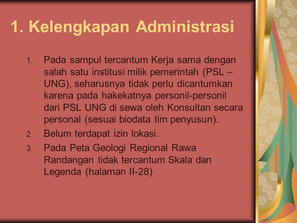 1. Kelengkapan Administrasi 1. Pada sampul tercantum Kerja sama dengan salah satu institusi milik pemerintah (PSL – UNG), seharusnya tidak perlu dican