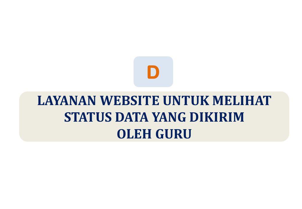 LAYANAN WEBSITE UNTUK MELIHAT STATUS DATA YANG DIKIRIM OLEH GURU D
