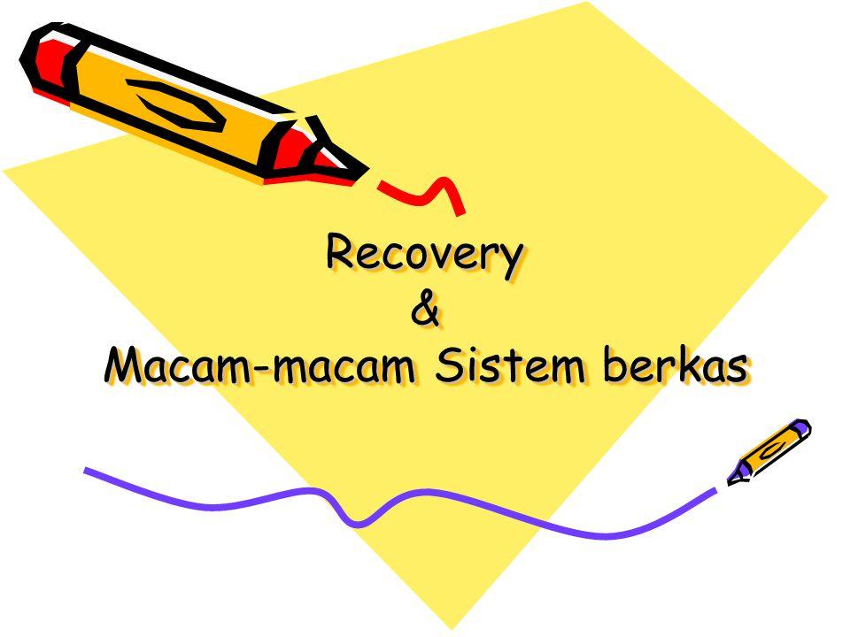 Recovery & Macam-macam Sistem berkas
