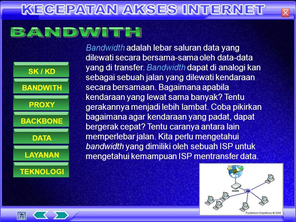 BANDWITHPROXYDATASK / KDBACKBONELAYANANTEKNOLOGI 1.Memahami dasar-dasar penggunaan internet / intranet 1.5.