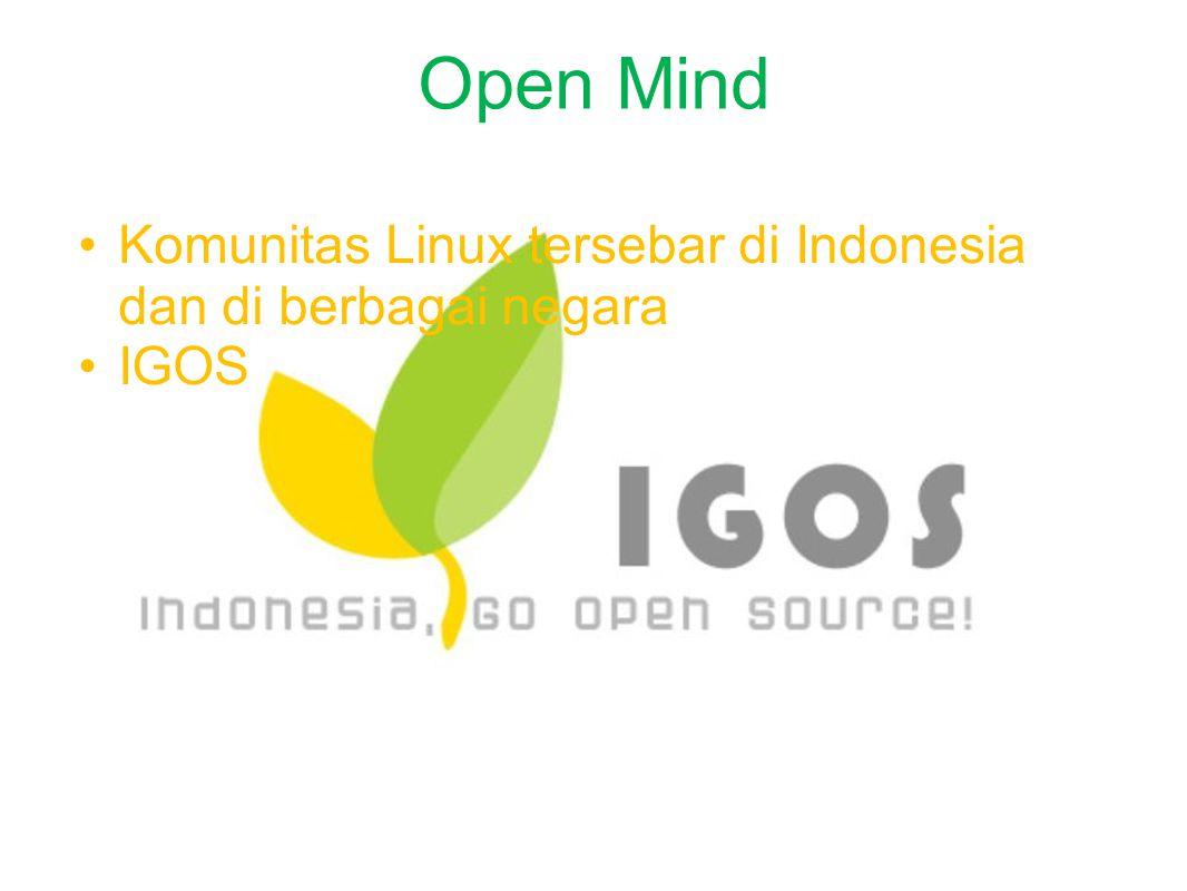 Open Mind Komunitas Linux tersebar di Indonesia dan di berbagai negara IGOS