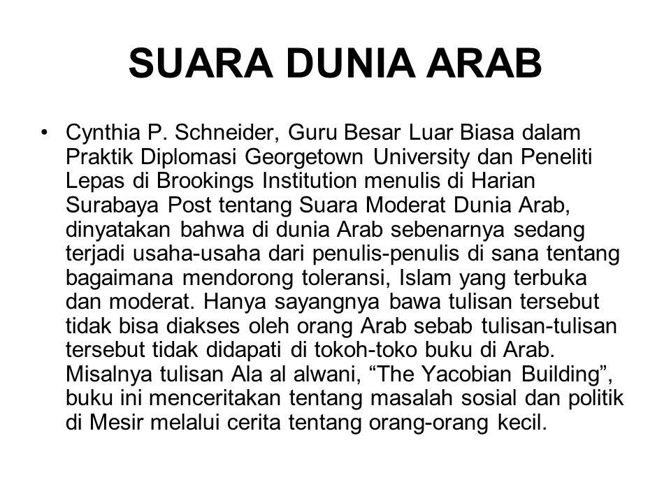 SUARA DUNIA ARAB Cynthia P.