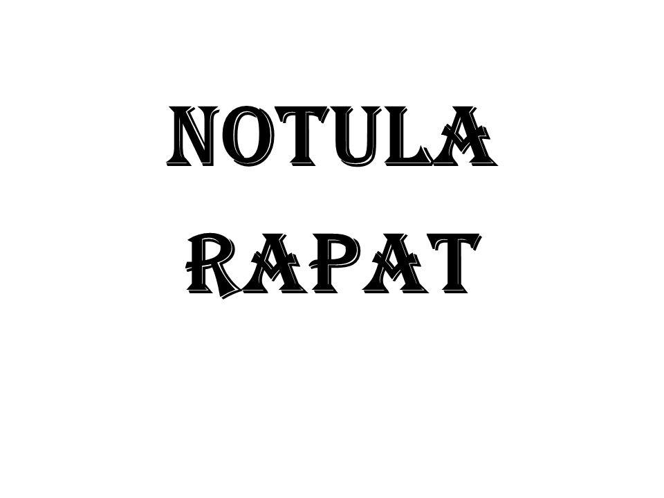 Notula Rapat