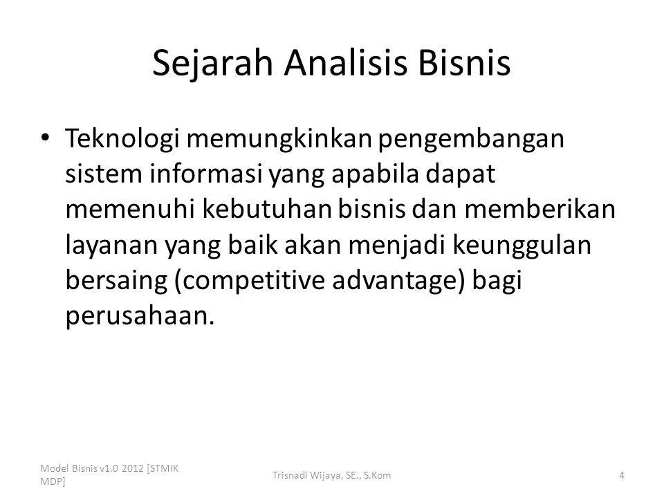 Masa Depan Analisis Bisnis Analisis bisnis telah menjadi disiplin khusus (spesialis) yang memberi manfaat bagi organisasi.