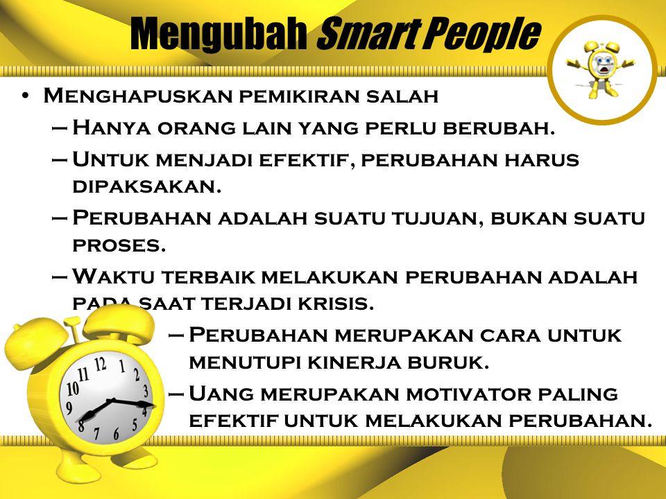 KESIAPAN UNTUK BERUBAH Memahami kekuatan pendorong smart people.