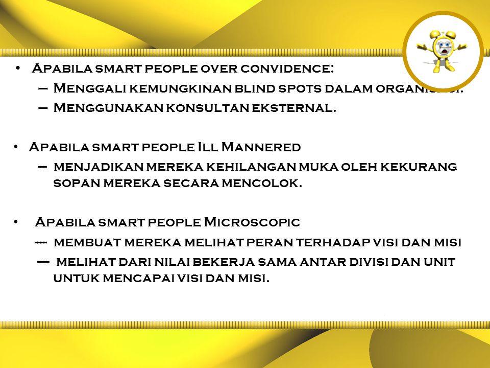Apabila smart people over convidence: –Menggali kemungkinan blind spots dalam organisasi.