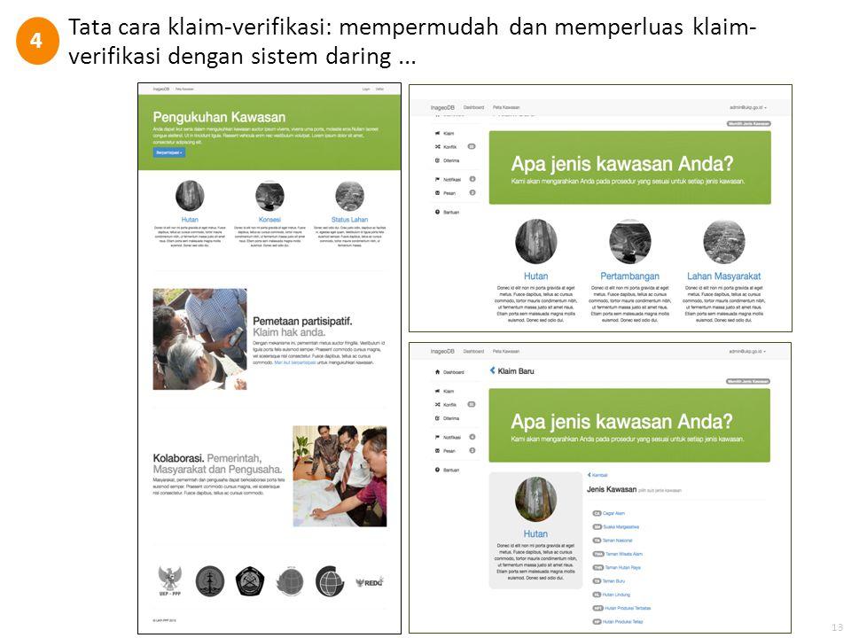 Tata cara klaim-verifikasi: mempermudah dan memperluas klaim- verifikasi dengan sistem daring... 4 13