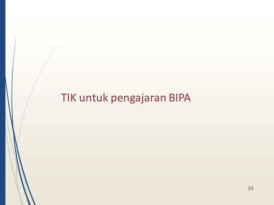 TIK untuk pengajaran BIPA 10