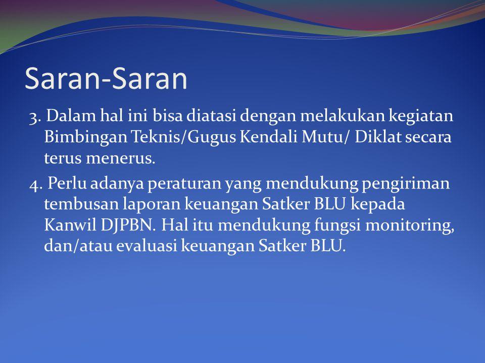 Saran -Saran 5.