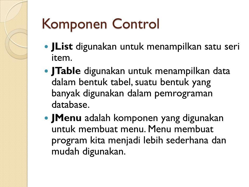 Container JFrame adalah komponen dasar dalam pemrograman visual dengan java.