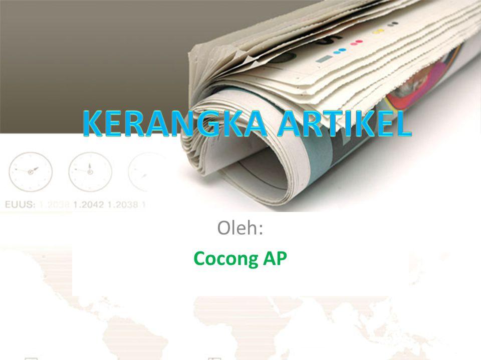 Oleh: Cocong AP