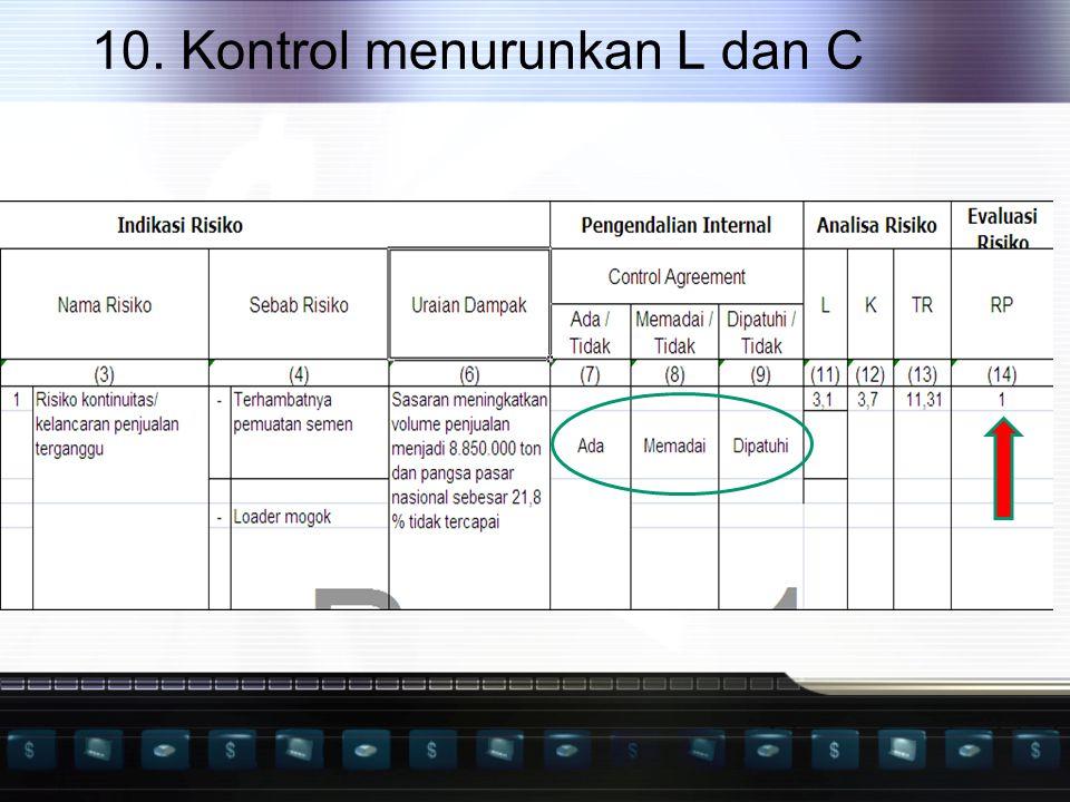 10. Kontrol menurunkan L dan C