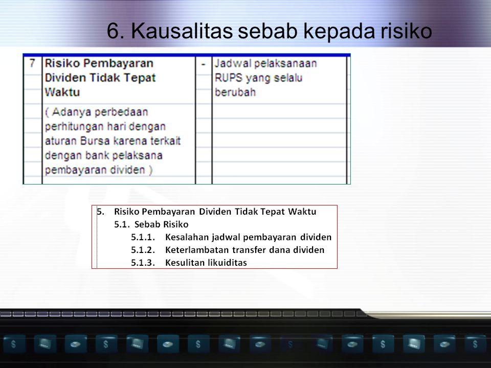 6. Kausalitas sebab kepada risiko
