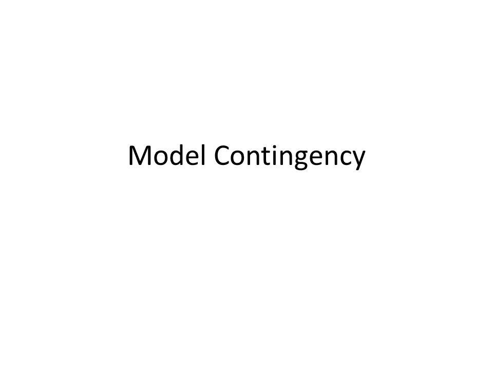 Model Contingency