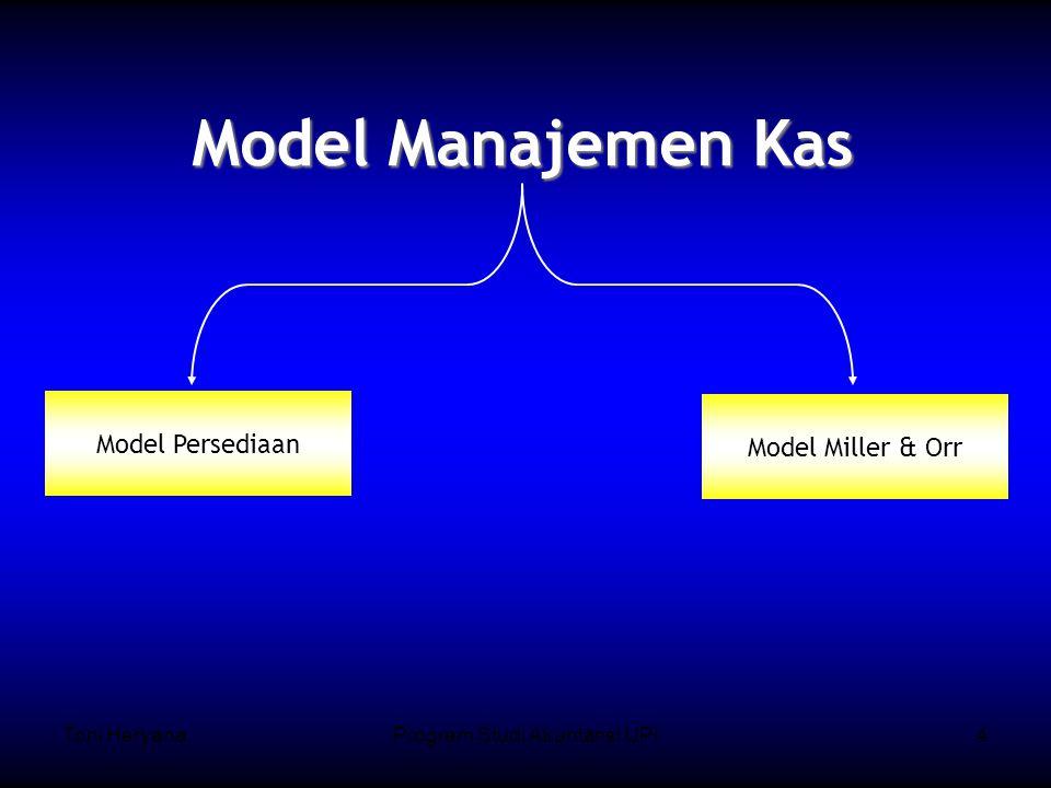 Toni HeryanaProgram Studi Akuntansi UPI4 Model Manajemen Kas Model Persediaan Model Miller & Orr