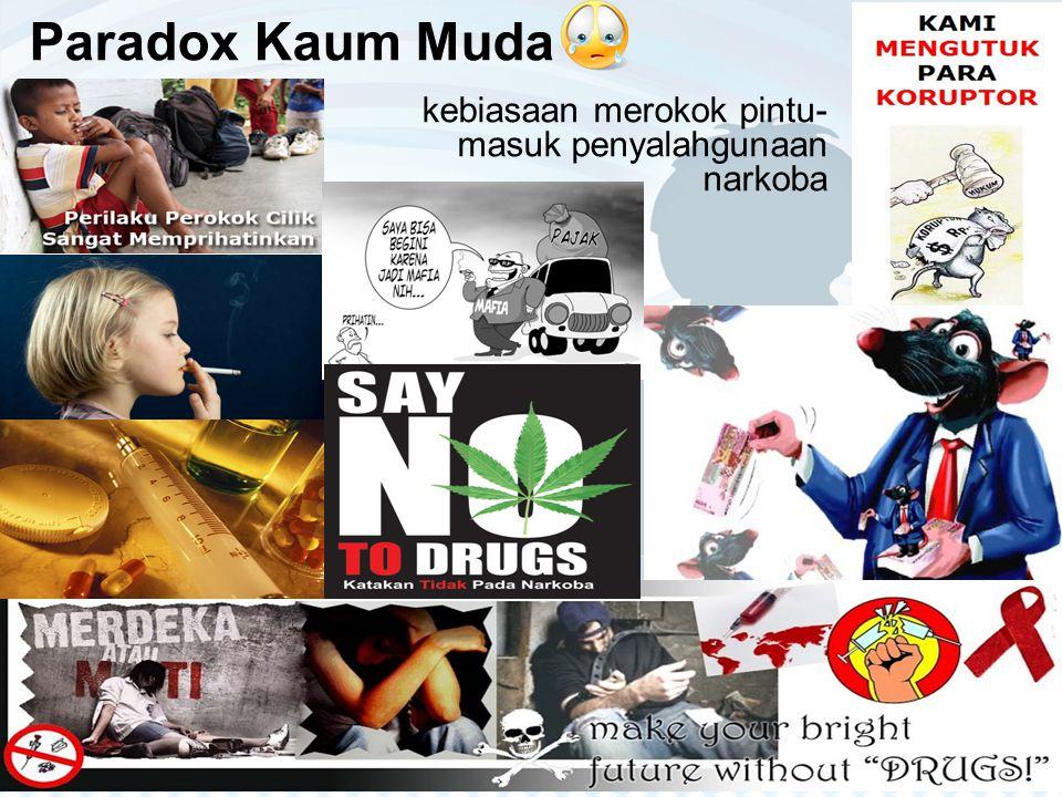 Paradox Kaum Muda kebiasaan merokok pintu- masuk penyalahgunaan narkoba
