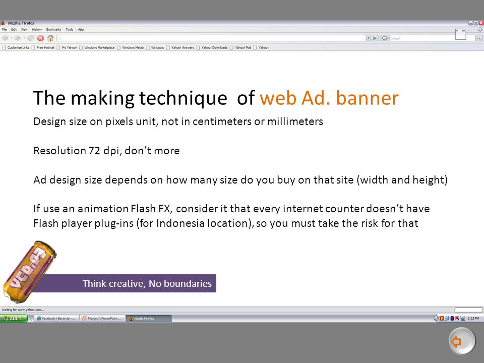 The making technique of web Ad.