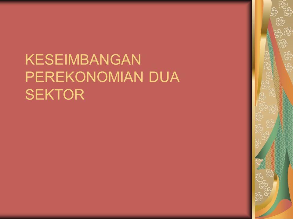 PENENTU TINGKAT KEGIATAN EKONOMI Setelah menunjukkan ciri-ciri dan komsumsi rumah tangga dan investasi perusahaan, sekarang telah dapat di jelaskan (i) mengenai arti dari konsep tingkat kegiatan ekonomi negara atau keseimbangan perekonomian negara, (ii) mengenai proses penentuan tingkat kegiatan ekonomi dan pendapatan nasional, dalam suatu perekonomian yang terdiri dari 2 sektor.
