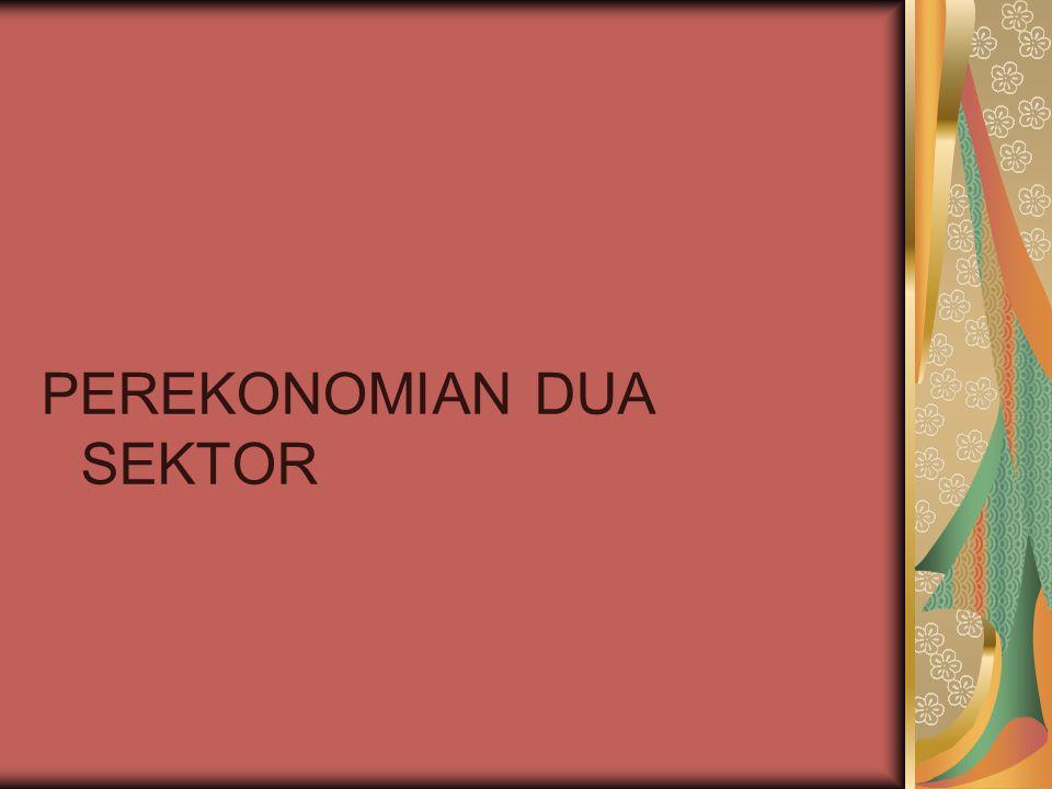 Yang dimaksud dengan perekonomian dua sektor adalah perekonomian yang terdiri dari sektor rumah tangga dan perusahaan..