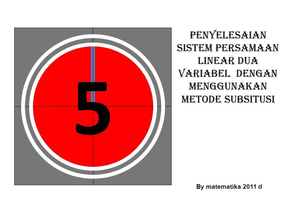 Pelajari contoh berikut ini: Persamaan linear dua variabel dengan variabel x dan y Persamaan linear dua variabel dengan variabel x dan y Persamaan linear dua variabel dengan variabel m dan n Persamaan linear dua variabel dengan variabel m dan n