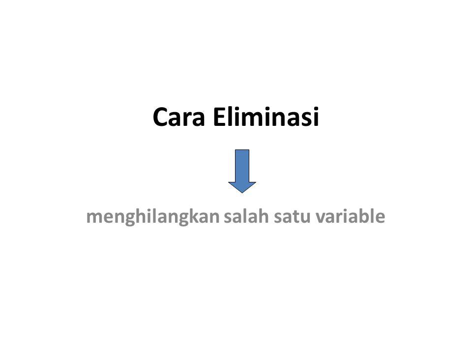  Cara penyelesaian SPL dua variable Substitusi Eliminasi Gabungan Substiusi dan Eliminasi Grafik