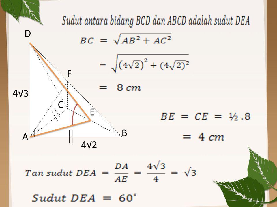 A B C D E F 4√2 4√3