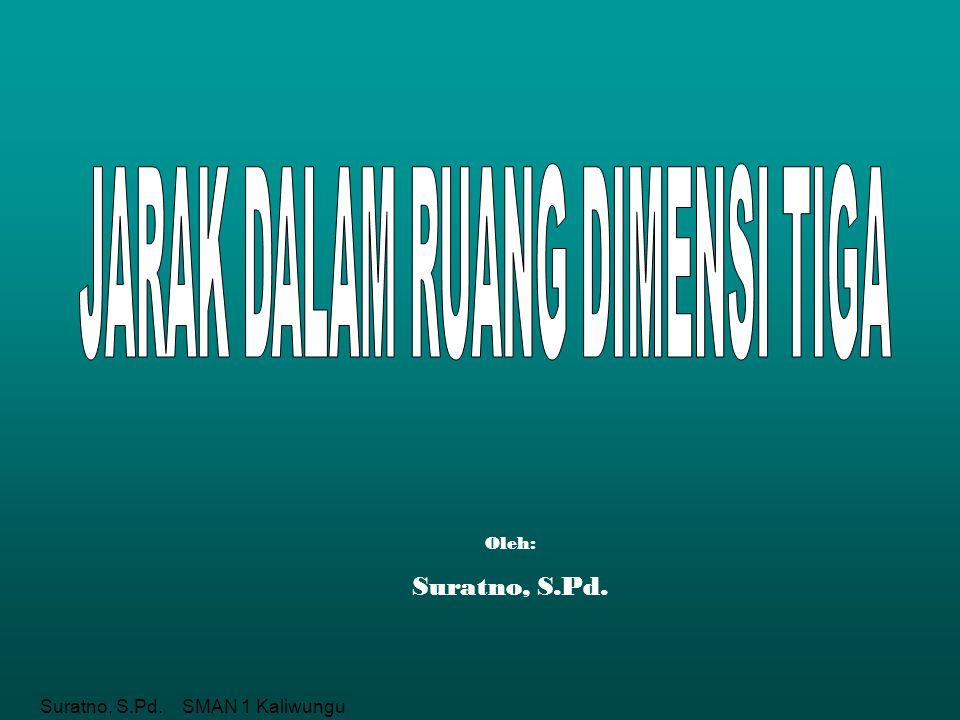 Suratno, S.Pd. SMAN 1 Kaliwungu Oleh: Suratno, S.Pd.