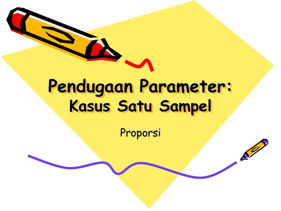 Pendugaan Parameter: Kasus Satu Sampel Proporsi