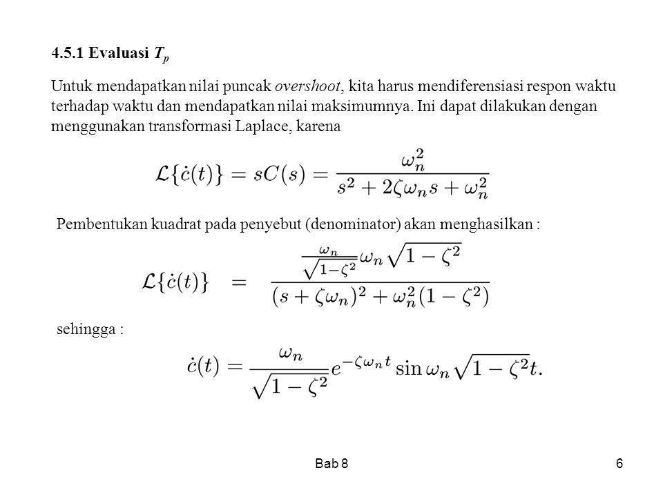 Bab 87 Dengan membuat derivatif bernilai nol, akan deperoleh atau Setiap nilai n menghasilkan nilai untuk maksima atau minima lokal.