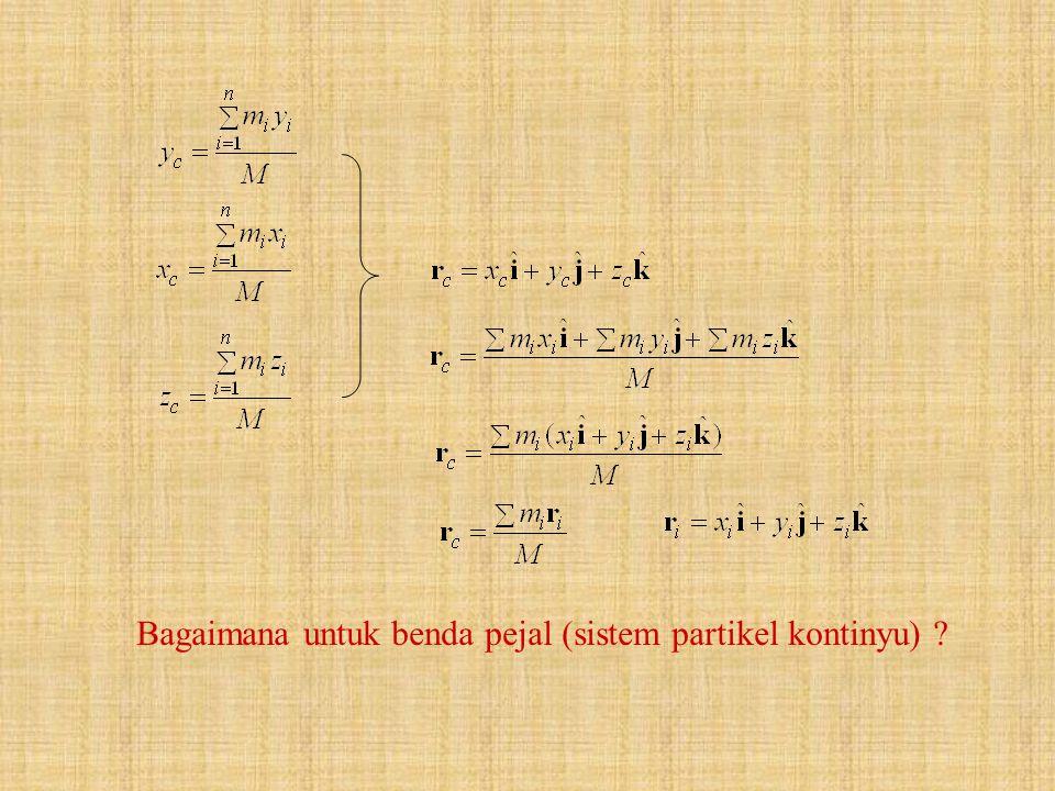 Bagaimana untuk benda pejal (sistem partikel kontinyu) ?
