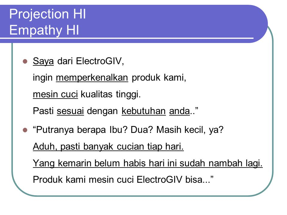 Projection HI Empathy HI Saya dari ElectroGIV, ingin memperkenalkan produk kami, mesin cuci kualitas tinggi.