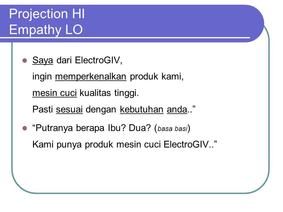 """Projection HI Empathy LO Saya dari ElectroGIV, ingin memperkenalkan produk kami, mesin cuci kualitas tinggi. Pasti sesuai dengan kebutuhan anda.."""" """"Pu"""