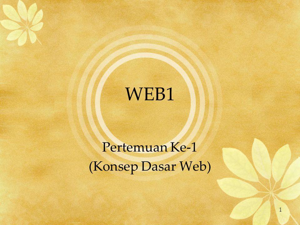 1 WEB1 Pertemuan Ke-1 (Konsep Dasar Web)