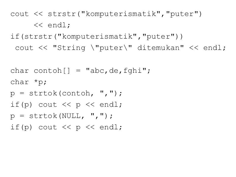 iscntrl()  digunakan untuk mengecek apakah karakter berupa karakter delete atau karakter kontrol (control).