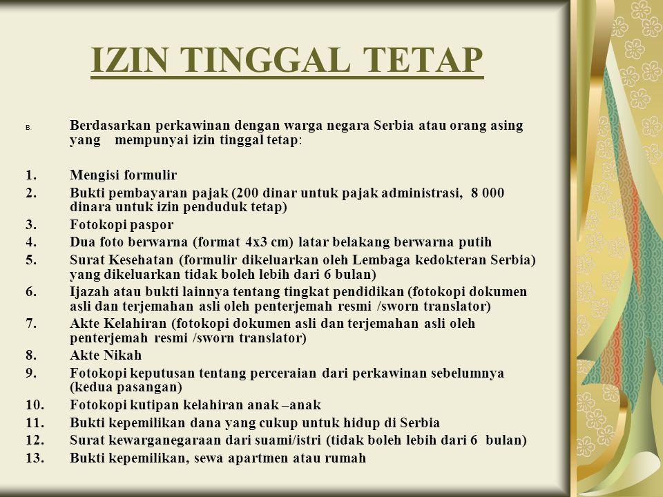 IZIN TINGGAL TETAP C.