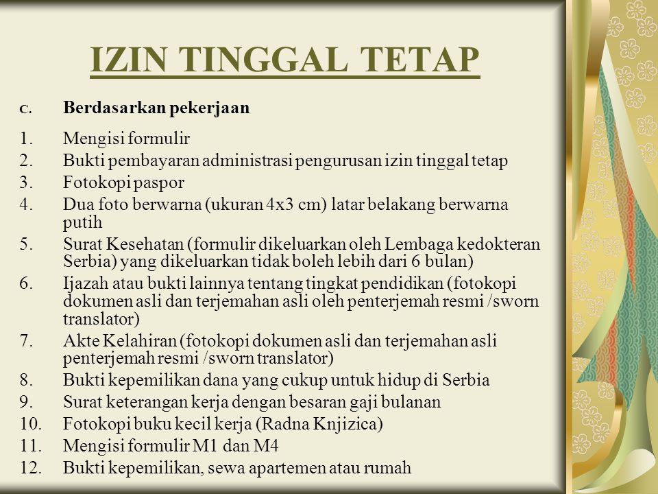 KARTU TINGGAL PENDUDUK (KTP) UNTUK ORANG ASING 1.