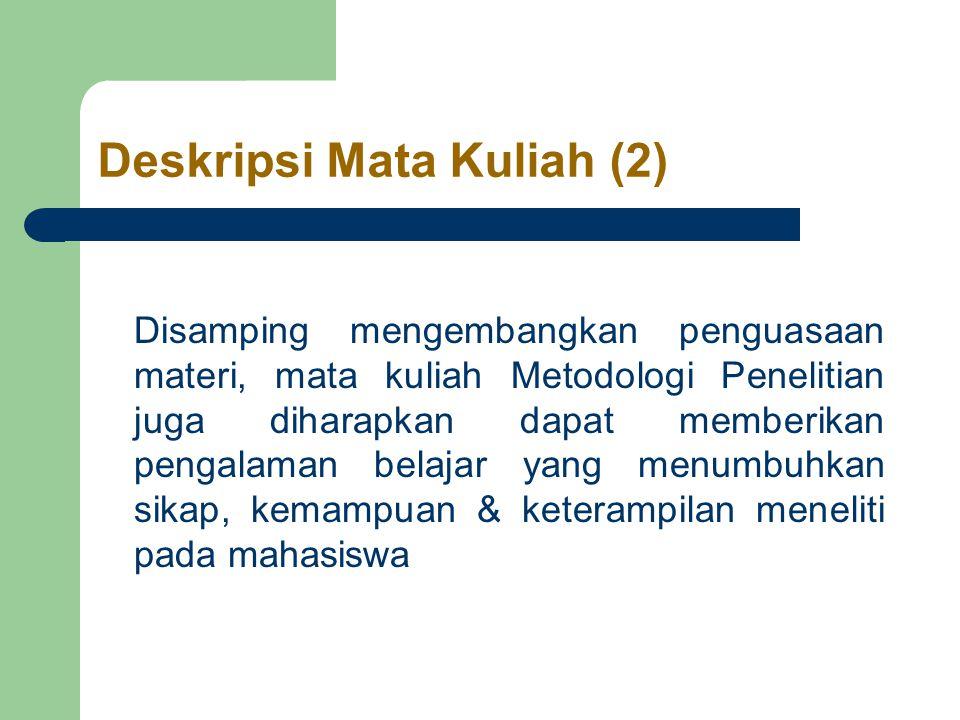 Kerangka Penelitian Kualitatif (3) V.Hasil Penelitian A.