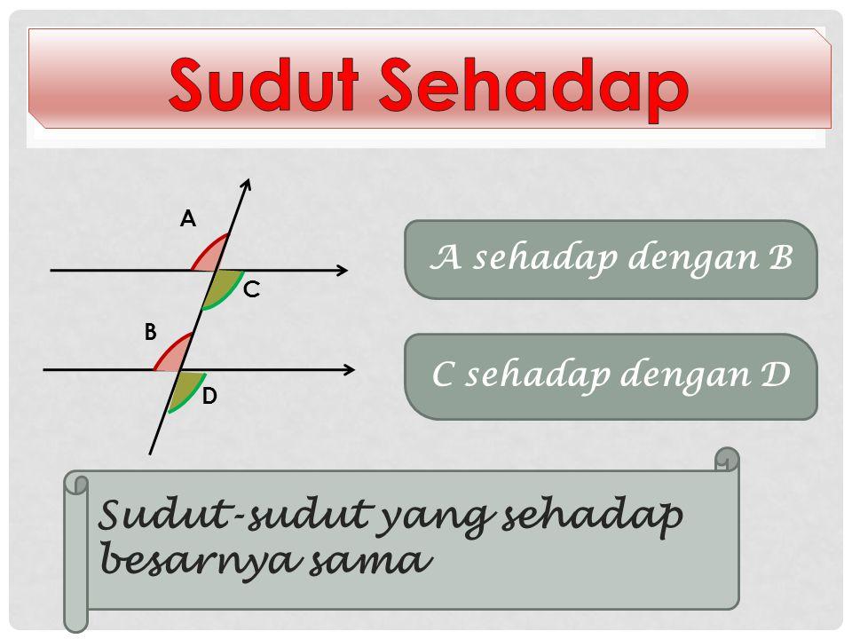 Dua Garis Sejajar Dipotong oleh Garis lain l 1 l2l2 k Garis l 1 sejajar dengan garis l 2 dan dipotong oleh garis k Garis h 1 sejajar dengan garis h 2
