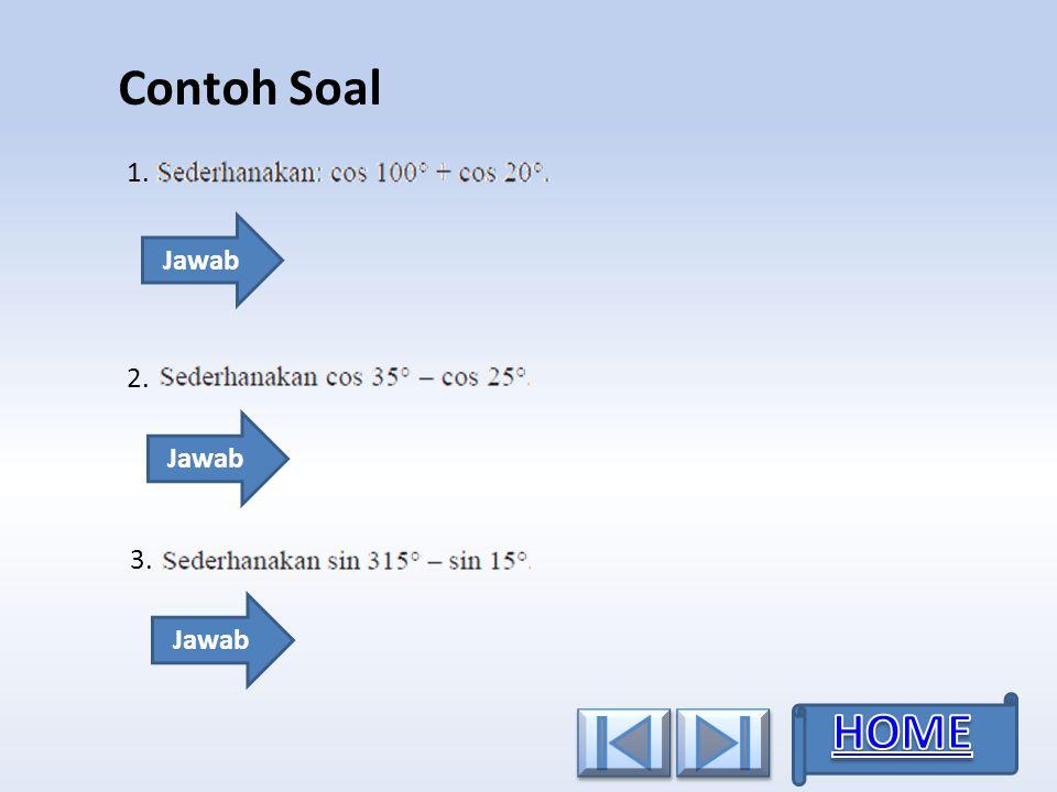 Contoh Soal 1. 2.2. 3.3. Jawab