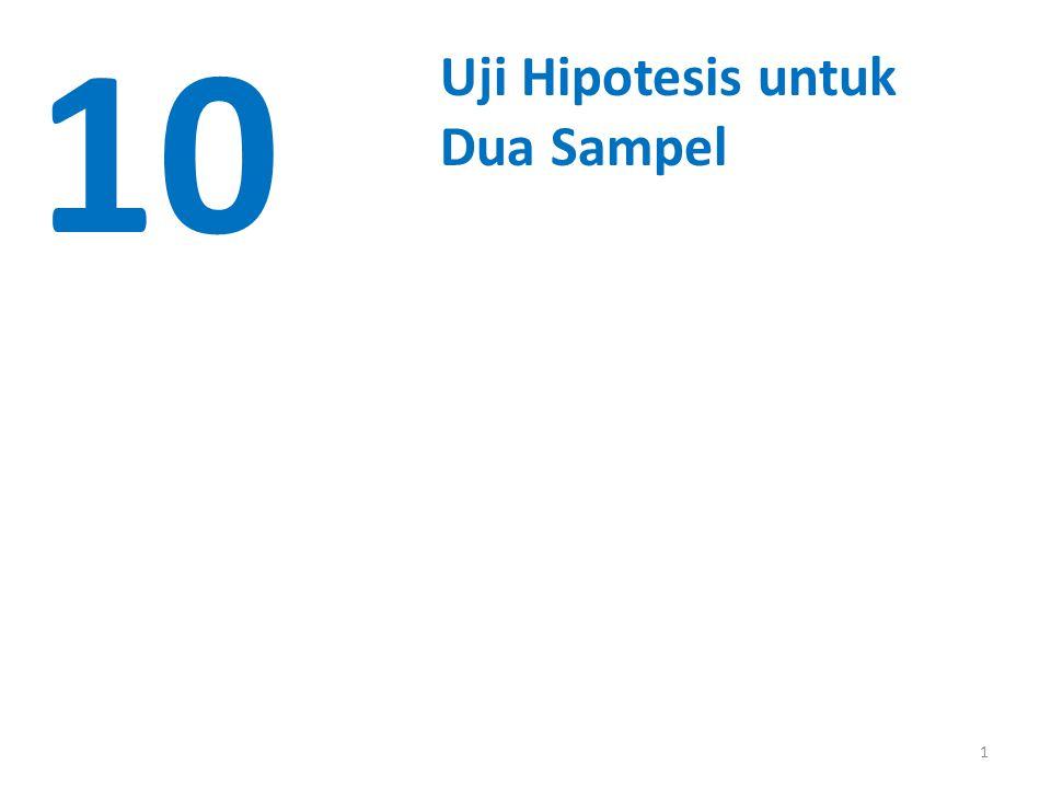 1 10 Uji Hipotesis untuk Dua Sampel