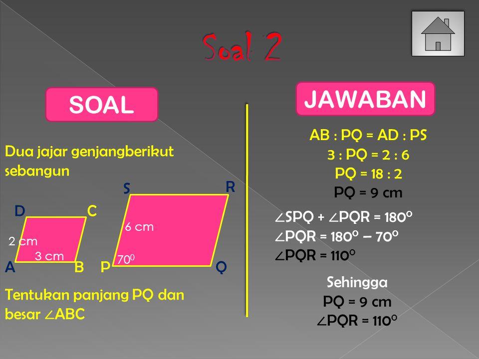 Perhatikan dua segitiga siku-siku berikut 4 cm 8 cm 3 cm 6 cm 5 cm 10 cm Apakah keduanya sebangun.