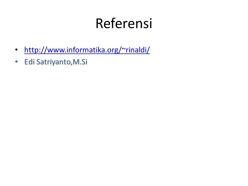Referensi http://www.informatika.org/~rinaldi/ Edi Satriyanto,M.Si Edi Satriyanto,M.Si