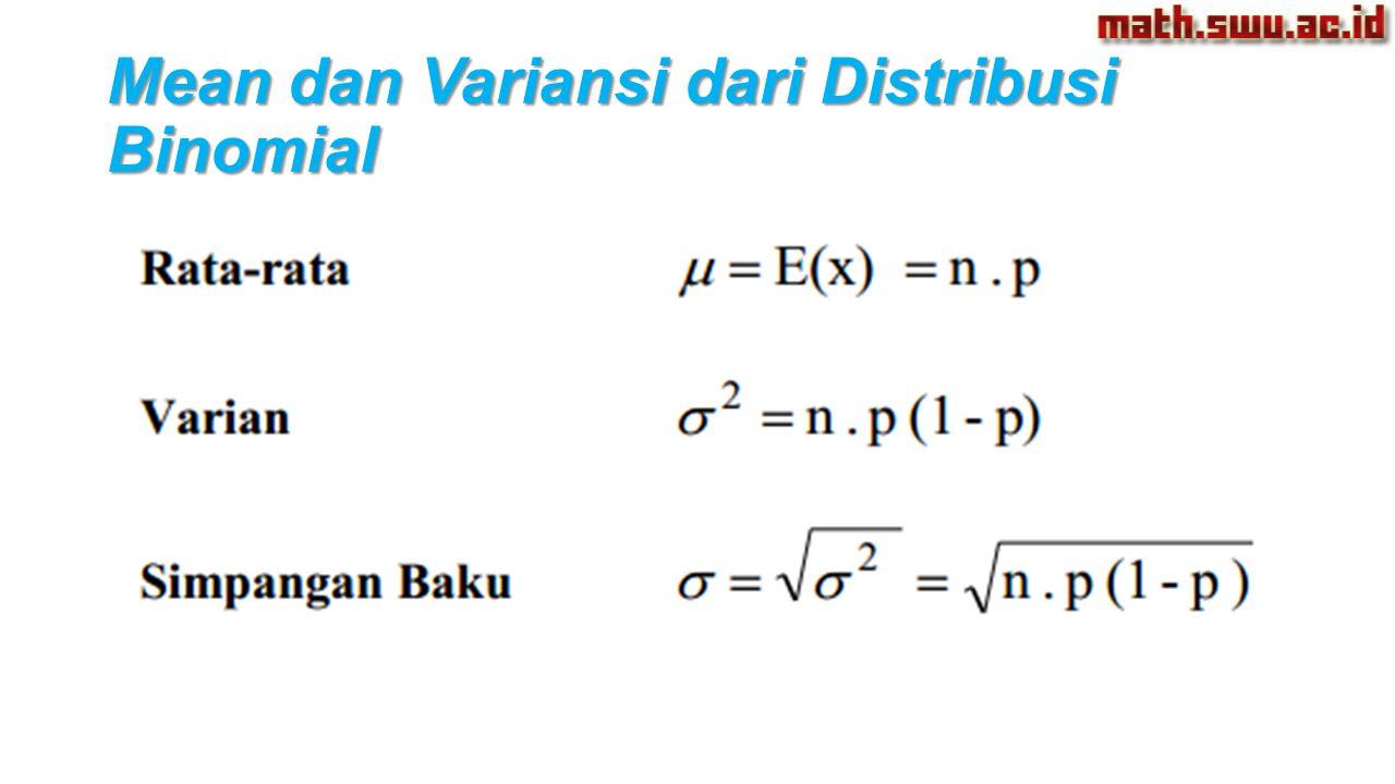 Mean dan Variansi dari Distribusi Binomial