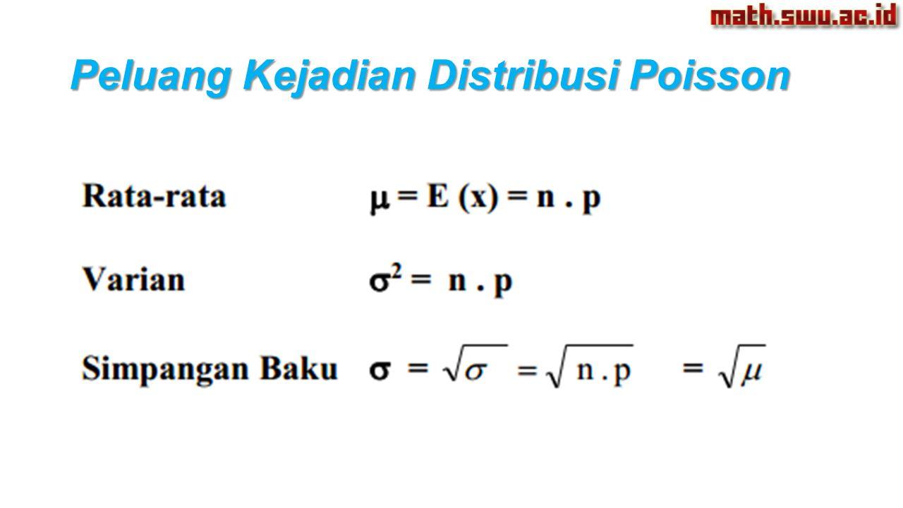 Peluang Kejadian Distribusi Poisson